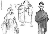 Character Outfit   Middle Easters & Central Asians Traditional Clothes / Enjoy a selection of illustrations, sketches, model sheets and tutorials by various artists, collected by Character Design References™ and shown here for educational and inspirational purposes only. Every artwork remain the property of the respective © copyright holders, should inclusion of specific work offend any of you in some way, please contact us on → characterdesignreferences.com