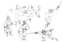 Character Pose   Fencing & Holding Swords / Enjoy a selection of illustrations, sketches, model sheets and tutorials by various artists, collected by Character Design References™ and shown here for educational and inspirational purposes only. Every artwork remain the property of the respective © copyright holders, should inclusion of specific work offend any of you in some way, please contact us on → characterdesignreferences.com