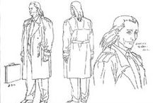 Character Outfit | Trench Coat / Enjoy a selection of illustrations, sketches, model sheets and tutorials by various artists, collected by Character Design References™ and shown here for educational and inspirational purposes only. Every artwork remain the property of the respective © copyright holders, should inclusion of specific work offend any of you in some way, please contact us on → characterdesignreferences.com