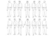 Character Pose   Turn  Men / Enjoy a selection of illustrations, sketches, model sheets and tutorials by various artists, collected by Character Design References™ and shown here for educational and inspirational purposes only. Every artwork remain the property of the respective © copyright holders, should inclusion of specific work offend any of you in some way, please contact us on → characterdesignreferences.com