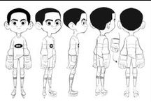 Character Pose | Turn Kids / Enjoy a selection of illustrations, sketches, model sheets and tutorials by various artists, collected by Character Design References™ and shown here for educational and inspirational purposes only. Every artwork remain the property of the respective © copyright holders, should inclusion of specific work offend any of you in some way, please contact us on → characterdesignreferences.com