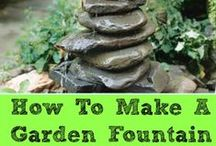 Yard Fountains / Intriguing and unique yard fountains for outdoor gardens