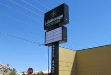 Pylon & Pole Signs / If your business is in need of a pylon sign, then contact us at 702.873.4463 or 714.998.8411 View our gallery below for some sample work of signage from restaurants, gas stations, hotels and other businesses.