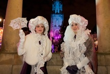 winterwonderland / inspiratie voor de winterwonderland in Delft op vrijdag 14 december.  Winkels kunnen meedoen, maar liefhebbers kunnen ook meedoen aan de parade onderdelen: Spiegel Sirene of Black en Light