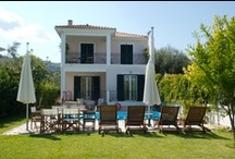 Mediterraneo Home villas indoors and outdoors / Take a look at the Mediterraneo Home villas in Lefkas island, Greece.