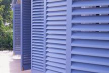 Latest use of louvres / Clean, minimal lines of louvres and shutter blades control light and airflow. www.openshutters.com.au