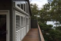 Exterior shutters / Inspiring examples of timber shutters and aluminium louvres for outdoor installation. www.openshutters.com.au