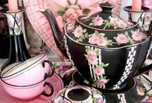 china girl .... take time for tea / beautiful china coffee cups tea cups teapots vases