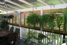 Indoor/Outdoor Rooms / Screens and louvres are the flexible choice for defining indoor outdoor spaces. www.openshutters.com.au custom make from cedar to aluminium.