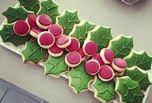 Holly / Wreath / Poinsettia Cookies