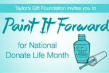 Paint it Forward! #TaylorBlue Logos / Use these with your social media accounts April 2013 to help us promote organ donation in support of National Donate Life Month! #TaylorBlue More info at www.TaylorsGift.org/TaylorBlue