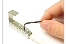 """Art Hanging 101 - All about """"set screws!"""" / Okay, so you're Walker Display picture hanging system came today, but you don't know how to attach the sleeve onto the rod?  Find out how in these images."""