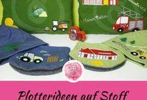 Plotterideen auf Stoff / Ideen / Gestaltung für textile Veredelung mit dem Plotter auf Stoff