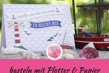 basteln mit Plotter und Papier / DIY Verpackungen, Karten, und Geschenke mit dem Plotter  / Schneideplotter Silhouette Cameo 3 und Portrait via Print & Cut