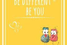 """be different -  be u / Hier findest du Bilder die unterstreichen, wie SCHÖN es ist """"DU SELBST"""" zu sein! Farbenfreude und Leichtigkeit, sowie gute Laune verbreiten diese unkonventionellen Bilder und machen Freude! Sei stolz DU SELBST zu sein!!"""