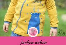 Jacken / Sweatjacken Kinderkleidung nähen / Winterjacken und Sweatjacken nähen für Kinder (Jungs und Mädchen) nach DIY Schnittmuster / kostenlose freebooks / Anleitungen für Ideen und Inspirationen