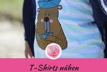 T-Shirts nähen Kinderkleidung / DIY Kinderkleidung / T-Shirts nähen für Kinder (Jungs & Mädchen) /  Schnittmuster und Anleitungen / freebooks kostenlose Nähanleitungen / Ideen und Inspiration