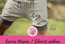 kurze Hosen / Shorts Kinderkleidung / DIY Kinderkleidung kurze Hosen / Shorts nähen (für Jungs und Mädchen) nach Schnittmuster und Anleitung / freebooks (kostenlose Nähanleitungen) für Ideen und Inspiration