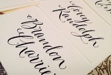 Escort Cards/Table Calligraphy