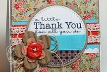 My Papercraft Inspiration - Thank You / Ideas for Thank You cards