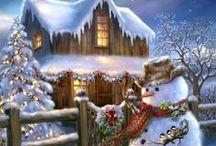 Natalº Crismasº Рождественское / illustrasao