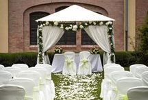 garden ceremony / some set ups from White Emotion for a garden ceremony in Italy, including arches and canopies inspirations