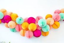 PARTY | POMS & HONEYCOMBS