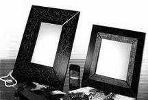 technique to scratch / Mirrors and photoframes decorated with technique to scratch