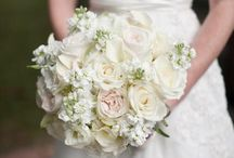 white and champagne florals