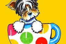 Dogs : Yorkies / All about Yorkies. / by Off-Leash Art™