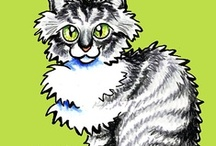 Cats : Maine Coon / For the love of the Maine Coon cat. / by Off-Leash Art™