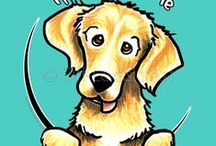 Dogs : Golden Retrievers / For the love of Golden Retrievers. / by Off-Leash Art™