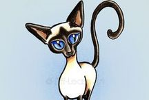 Cats : Siamese / Love Siamese cats :) / by Off-Leash Art™