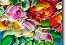 ABSTRACT ART- PALETTE KNIFE / by Mirian Keller
