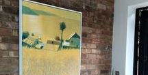 New Homes / Lots of our clients send us photos of their newly purchased paintings, we would like to share some of our lovely feed back with you.
