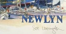 """Sue Lewington / These are the images of the original watercolours taken from Sue Lewington's book 'PZ' published in November 2015 and her new book """"Newlyn"""", published  26th November 2016, launched at Cornwall Contemporary gallery in Penzance."""
