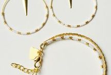 Bijoux Miyuki (boucle d'oreilles, bracelets)