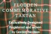 Flodden Commemorative Tartan / To mark the 500th anniversary of the Battle of Flodden, designed and produced by Gordon Nicolson of Nicolson Kilt Makers in Edinburgh.    Tudor Green and White of the English Army and the Golden Yellow and Dark Red of the Scottish Army. The battle, which was fought on September 9 which saw 15,000 dead  with King James IV of Scotland among them. He was the last monarch to die in battle in these islands. The tartan commemorates all those who gave their lives.