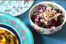 Healthy Salads / Delicious tropical salads