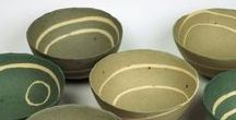 Charlotte Jones / Charlotte Jones, stoneware ceramics using clays dug locally in Cornwall. Colours are found in the changing fields, gorse, lichen, sky and sea.