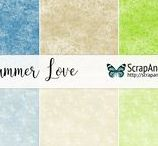 Summer Love / Beautiful collection of scrapbooking papers in summer juicy colors