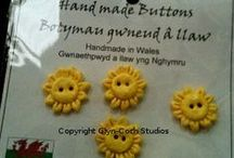 Buttons / Hand made polymer clay buttons, also earthenware buttons.