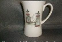 Welsh Traditions / A collection of hand decorated bone china with a Welsh/Celtic theme.