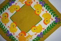 Danish - Swedish retro Easter textiles and fabrics - Dansk - Svensk retro påske tekstil og stof / Danish and swedish retro Easter textile prints designed in the 50s, 60s and 70s. Danske og svenske retro påsketekstiler fra 50'erne, 60'erne og 70'erne.