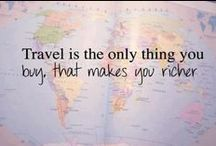 Reasons to Travel...#wanderlust / Life is too short, you can't afford not to make the most of each day.  Nothing is more enriching to the mind and body than traveling.  Maybe these quotes will inspire you to get out there!