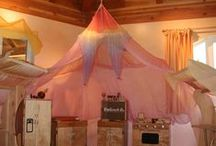Calming Silk Canopy / Use beautiful silks to create a calming spot in your daycare playroom.