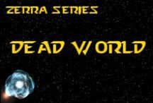 Novel - Dead World / The last scenes take place on a deserted, dead world with red mountains & rust-made sands. The inhabitants have headed off into the vastness of space after polluting & stripping their world to death.  *** http://www.facebook.com/pages/K-Llewellin/456756831010691 ***