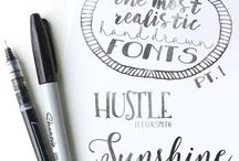 CRAFT | fonts and scribling / We love fonts and other pretty scribling