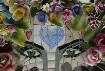 ~To mosaic... / Creating something beautiful of broken bits, cut and placed to perfection...