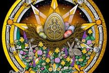 Paganism - Ostara / The word Ostara is just one of the names applied to the celebration of the spring equinox. Bede said the origin of the word is actually from #Eostre, a Germanic goddess of spring. For early #Pagans in the Germanic countries, this was a time to celebrate planting and the new crop season. Typically, the Celtic peoples did not celebrate Ostara as a holiday, although they were in tune with the changing of the seasons. [from: http://tinyurl.com/c9jjkb]